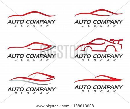 speed Auto car Logo Template vector icon
