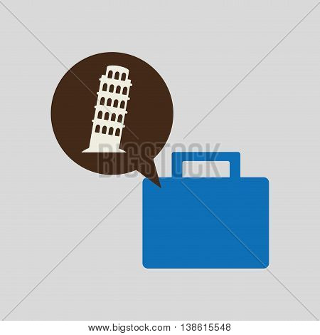 people travel destination isolated, vector illustration eps10