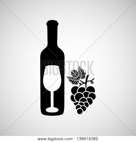 wine grapes icon design, vector illustration eps10