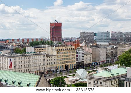 Poznan, Poland - June 28, 2016: View On Economic Academy And Buildings In Polish Town Poznan