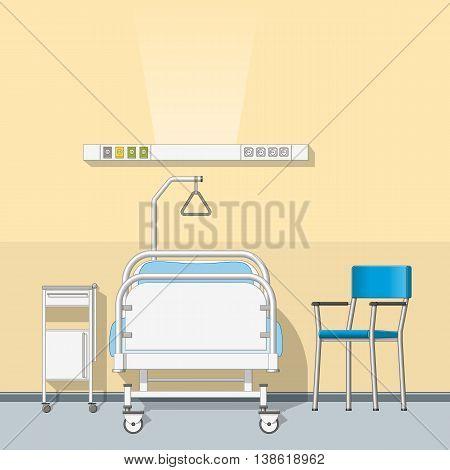 Illustration of a modern sickroom, vector illustration