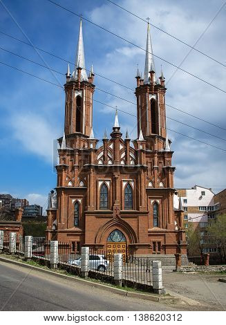 The Catholic Church of the Holy Theotokos in city Vladivostok