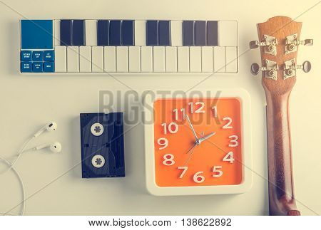 Music Entertainment Enjoy fun time. Music instrument practice time. Music production time.