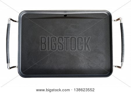 Empty Electrical cooking pan with handles isolated on white