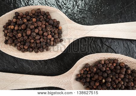 Two tablespoons black pepper corns cooking ingredients