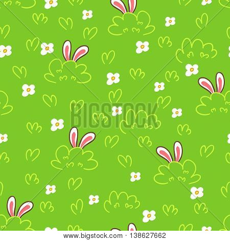 Easter background.Vector seamless pattern. Endless texture can be used for wallpaper background printing on fabric paper scrapbooking.