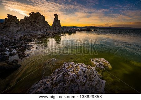 Calcium Spires At Mono Lake