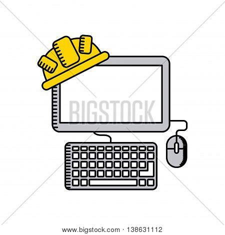 web site under construction isolated icon design, vector illustration  graphic