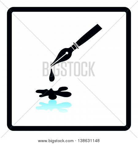 Fountain Pen With Blot Icon
