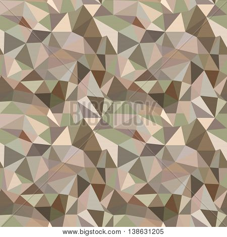 Seamless Vector Pattern. Abstract Brown Background With Triangles.