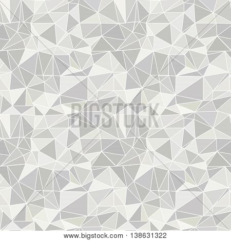 Seamless Vector Pattern. Abstract Grey Background With Triangles.