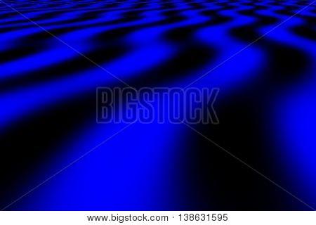 Illustration of dark blue and black perspective waves