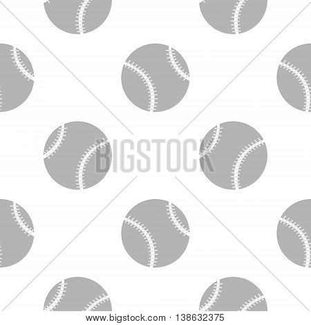 Seamless Vector Pattern, Background With Elements Of Baseballs On The White Backdrop