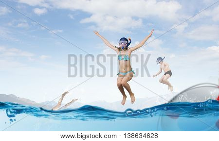 My great summer vacation . Mixed media