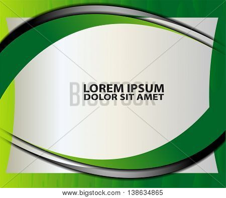 vector background angle triangle dimension 3d overlap Green graphic message board for text and message design frame line shadow for modern web design