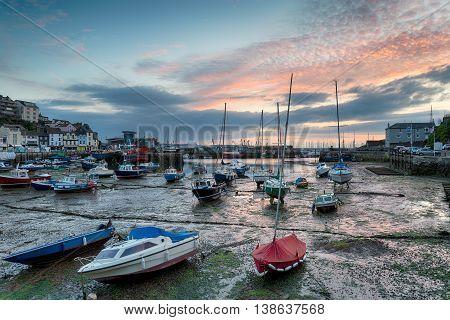 Sunrise at Brixham on the Devon coast