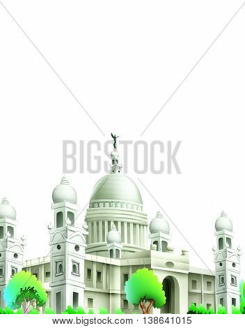 Mahal / Palace isolated on white Background