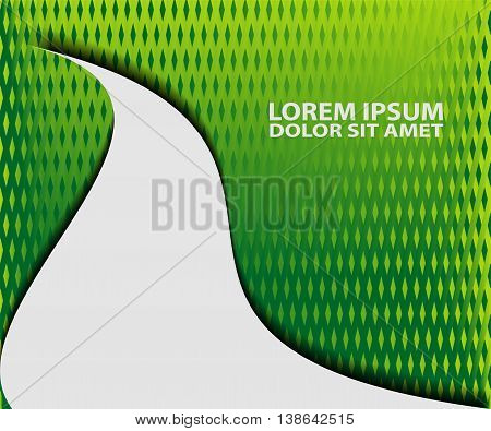 Green background vector overlap dimension 3d graphic metal color message board for text and message design frame line shadow for modern web design eps10 infographic
