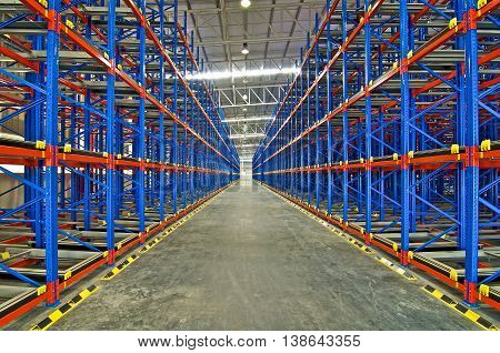 Warehouse storage racking pallet system for metal shelving distribution center