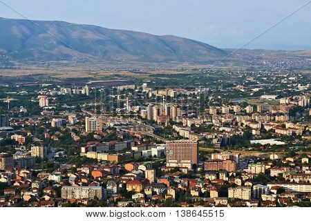 Panoramic view of the capital city of Republic of Macedonia