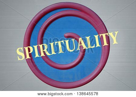 Spiral and the word Spirituality written over it