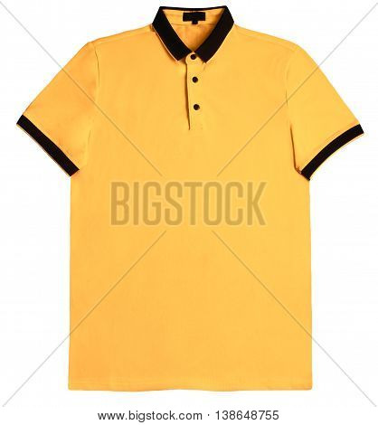 Polo shirt yellow isolated on white background