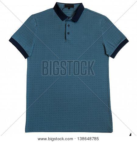 Polo shirt grey isolated on white background