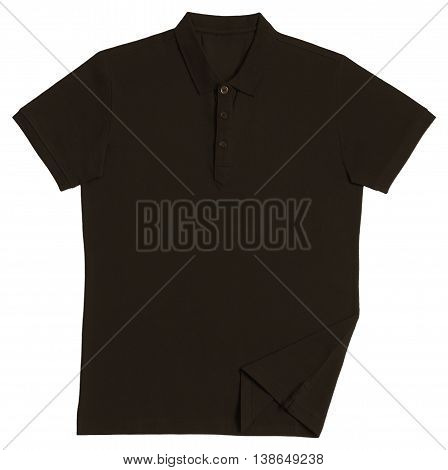 Polo shirt brown isolated on white background
