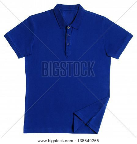 Polo tee shirt isolated on white background