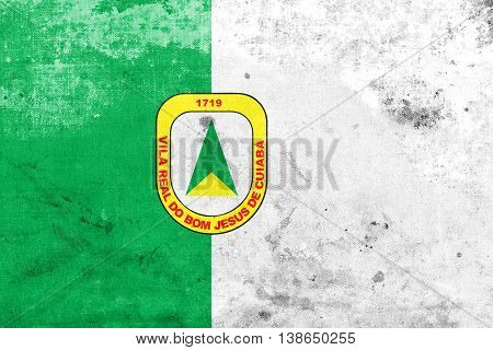 Flag Of Cuiaba, Mato Grosso, Brazil, With A Vintage And Old Look