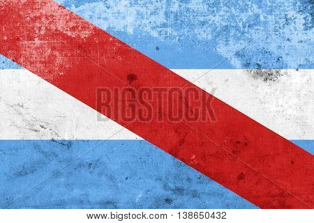 Flag Of Entre Rios Province, Argentina, With A Vintage And Old L
