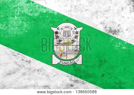 Flag Of Fundao, Espirito Santo State, Brazil, With A Vintage And