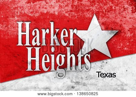 Flag Of Harker Heights, Texas, Usa, With A Vintage And Old Look