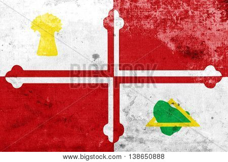 Flag Of Howard County, Maryland, Usa, With A Vintage And Old Loo