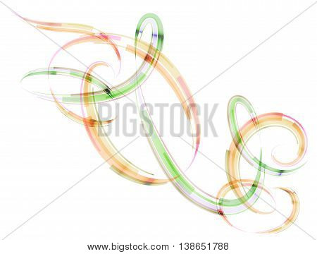 Abstract spiral stripes in form of loops and arcs. Combination lines and ribbons for abstract background.