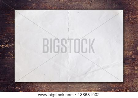 Old Paper On Wood Background With Space