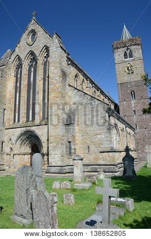 The exterior of the old Cathedral in Dunblane