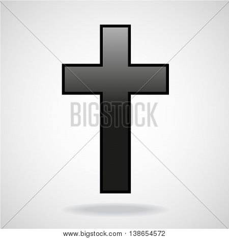 Cross. Christian Symbol isolated on white background