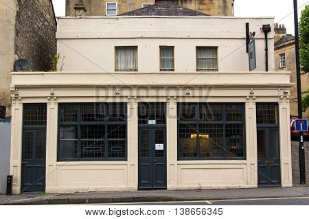 BATH SOMERSET UK - JULY 15 2016 Chapter One Public House front. Independent Freehouse on London Road in the UNESCO World Heritage City of Bath in Somerset England