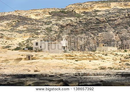 Between the Inland Sea and the Azure Window is the little Chapel of St Anne