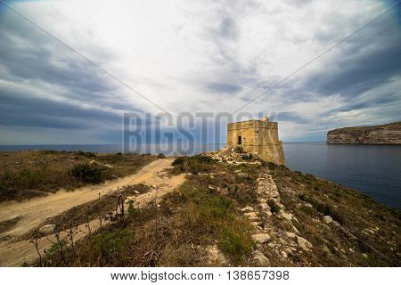 The ix-Xlendi tower is the oldest free-standing coastal watchtower in Gozo