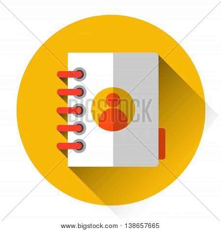 Personal Note Address Book, Organizer Icon Flat Vector Illustration
