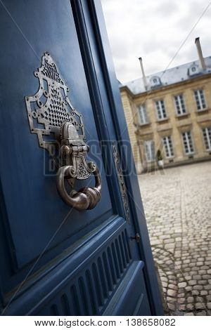 Door Knocker Of A French Mansion