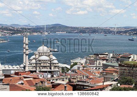 Eminonu New Mosque In Istanbul City