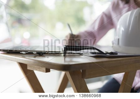 Engineering Working With Computer Laptop