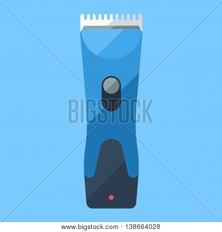 Trimmer flat icon for home shave or barbershop