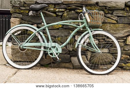 an old bycicle in a tranquil Rhode Island village