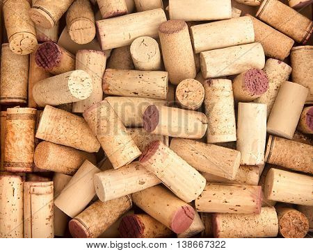 Old Wine corks background with copy space