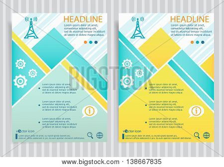 Transmitter Symbol  On Vector Brochure Flyer Design Layout Template