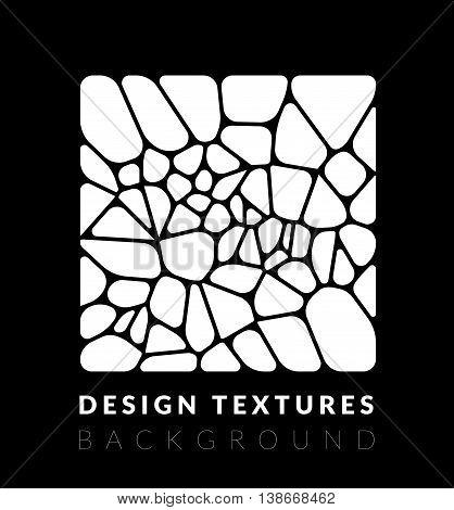 Abstact voronoi design background. Geometric vector illustration